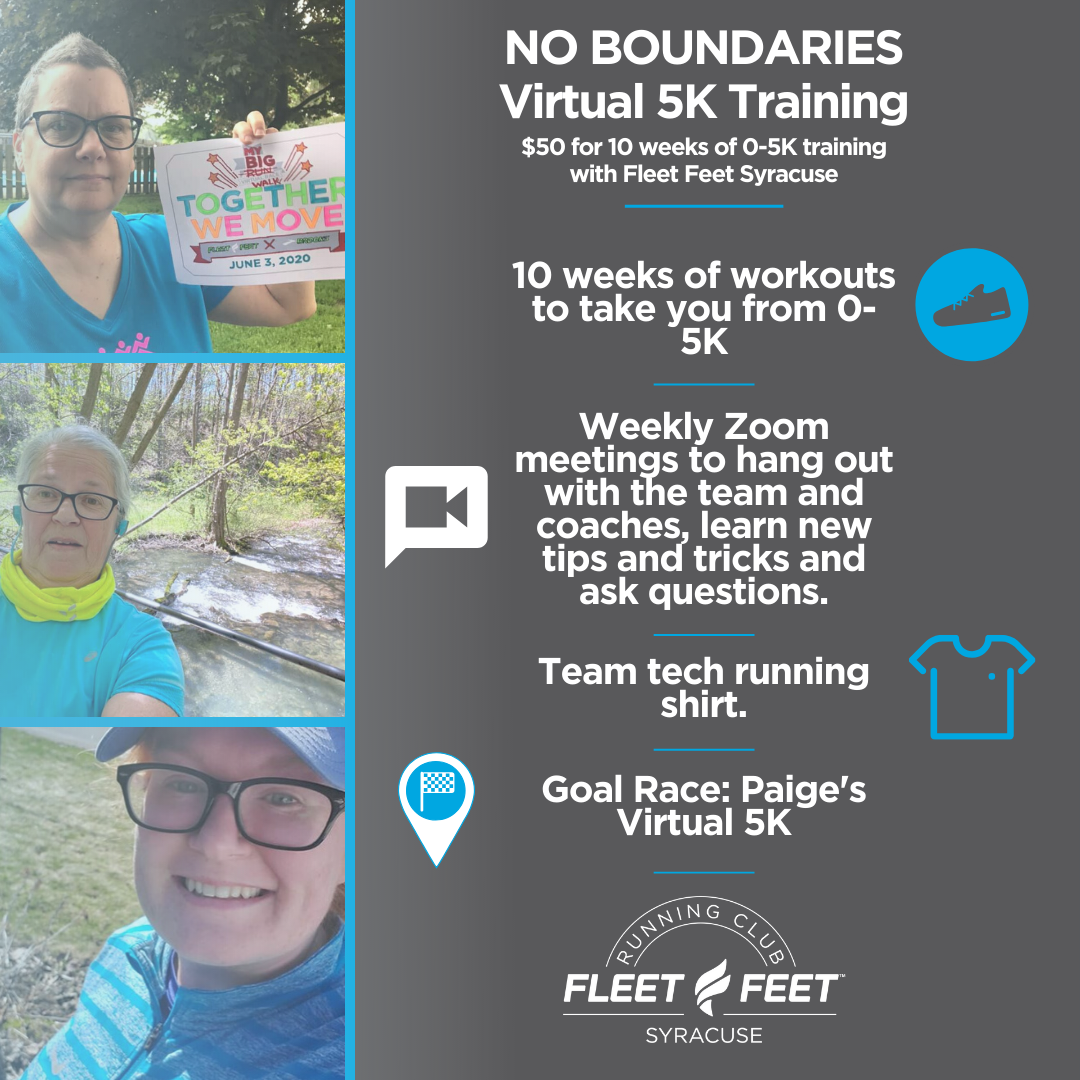How to train for a 5K Virtually No Boundaries running