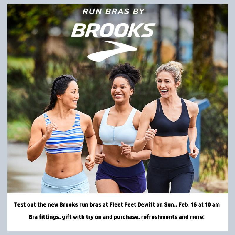 Brooks Run Bra Try On Event at Fleet Feet Syracuse